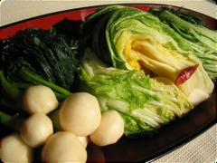 【かぶ、白菜、水菜の浅漬】