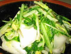 【白菜と水菜の塩漬】