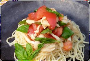 トマトときのこの冷製パスタ(2人分)