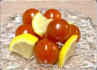 ミニトマトとレモンの甘酢漬
