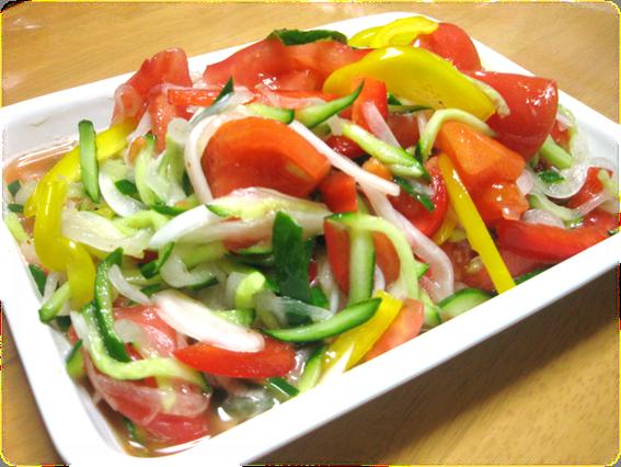 トマトのサラダ漬