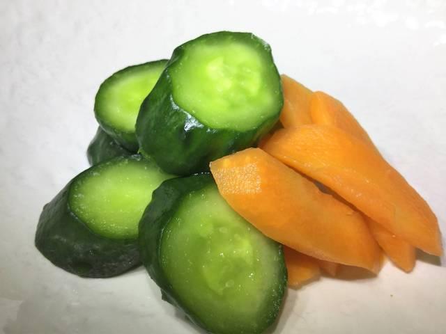 きざみ野菜の即席ぬか漬